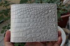 Double Side White Genuine Alligator Crocodile Leather Skin MEN'S Bifold Wallet