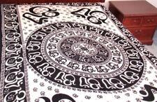 "OM Chakra Tapestry White Tie Dye Wall Hanging Lt Bedspread-Decor 72 x 108"""