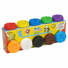 10 Pc 50g Play Dough Doh Pots Kids Modelling Colours Toys Shapes Xmas Gift