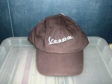Vespa logo baseball style cap in chocolate