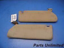 92-00 Lexus SC300 SC400 OEM sun visors shades STOCK factory x2 tan