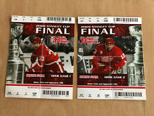 DETROIT RED WINGS PITTSBURGH PENGUINS 2009 STANLEY CUP FONALS FULL TICKET STUBS