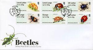 Jersey 2016 FDC Beetles Ladybirds Post & Go 6v Set Cover B002 B9JE16 Stamps