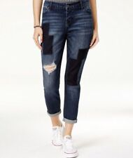Celebrity Pink Ripped Patched Girlfriend Jeans Size 9 Tournai Dark Wash #4494