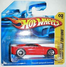 Red Chevy Camaro Concept 2007 First Editions Hot Wheels 1:64 scale Short Card