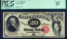 $20 LEGAL TENDER HAMILTON of 1880 Fr 147 PCGS SLAB GRADED VERY FINE 25 LAST TYPE