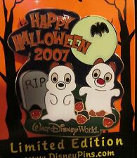 Disney WDW Happy Halloween Cute Characters Chip & Dale Pin