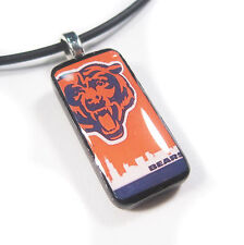 Chicago Bears Mini Domino Pendant with FREE Necklace