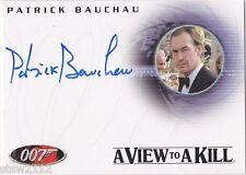 James Bond in Motion A93 Patrick Bauchau scarpine Autogramm A View To A Kill