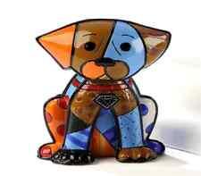 ROMERO BRITTO LTD BOXER DOG FIGURINE NEW ITEM NUMBERED