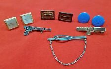 Vintage Cuff Links And Tie Bars Lot Of 6