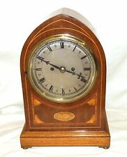 #Antique VICTORIAN Inlaid Mahogany DOUBLE FUSEE Bracket Mantel Clock  ALAN RAPER