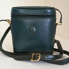 Vintage Mark Cross Small Emerald Green Leather Camera Case Crossbody Bag