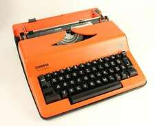 #6332 - 70er Jahre Olympia Monica Electric Schreibmaschine - Orange
