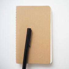 KRAFT NOTEBOOK Small Blank Spiral Journal Diary Memo Pocket Scrap Book - SECONDS