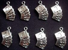 8 Playing Cards Charms Alice In Wonderland 22mm
