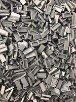LEGO 50 x NEW Tiles 1x2 (Part 3069 / 3069b) Dark Bluish Grey City Moc Part DBG