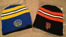 >New 2017 SF Giants GS Warriors Reversible Beanie limited Bayarea United hat cap