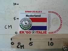STICKER,DECAL EK 80 ITALIE VOETBAL,SOCCER JH HENKES,NEDERLAND,NETHERLANDS