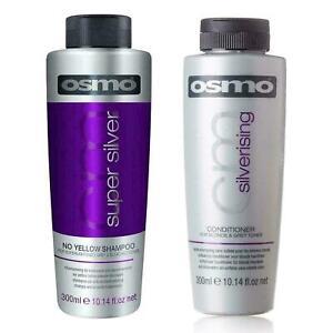 Osmo Super Silver No Yellow & Silverising Conditioner  300ml DUO