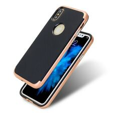 Apple IPHONE X Case Phone Cover Protective Case Carbon Case Pink