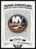 2019-20 UD OPC O-Pee-Chee Base Team Checklist #569 New York Islanders