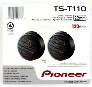 Pioneer TS-T110 7/8 -Inch 120 Watts Max Power, PPTA Hard Dome Tweeter Pair NEW