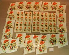 Konvolut 60 Schiebebilder Abziehbilder Mohn Blumen zum Dekorieren und Einbrennen