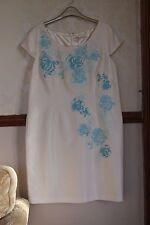 Jacques Vert Dress Ivory Aqua Blue Races Wedding Mother of Bride BNWT 18