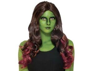 *NEW* Rubies Marvel Avengers Infinity War Gamora Adult Wig, One Size, 1-2454