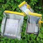 PACK of 3 SIZES WATERPROOF CAMERA MOBILE PHONE POUCH DRY BAG PVC CASE KAYAK BOAT