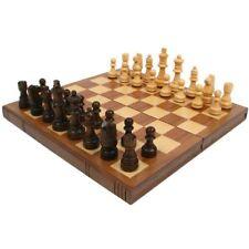 New Trademark Chess Board Walnut Book Style with Staunton Chessmen
