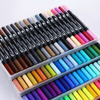 Art Pens Markers Paint Colors Ink Watercolor Pen Dual Tip Brush Painting Set