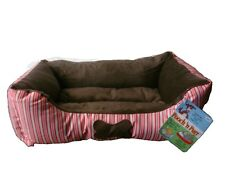 18x14 Small Pet Bed for Dog or Cat - Red stripes