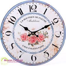 Reloj De Pared Vintage Shabby Chic Estilo Francés La Boutique-Nuevo