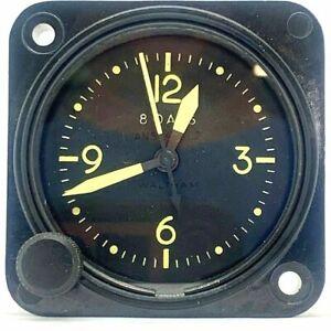 WW2 Waltham US Aircraft 9 Jewel 8 days Dash clock