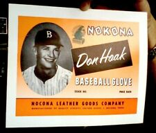 Nokona Don Hoak Baseball Glove Box Label Brooklyn Dodgers * Bonus Article