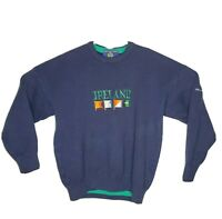 Vintage Blarney Castle Designs Men's Ireland Crew Neck Ribbed Knit Sweater L