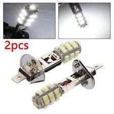 2* White H1 HID 7500K LED Fog Light Lamp Headlight High Beam Running Bulb Kit