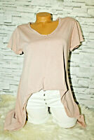 Italy T-Shirt Vintage Gr. 36 38 40 42 Shirt Oversized Long Puder rosa blogger