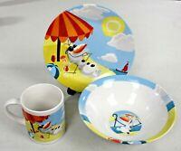 Olaf: Chillin in the Sunshine - 3pc. Ceramic Dining Set - Disney Frozen