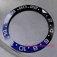 38mm High Quality Black&Blue Ceramic Bezel Insert for GMT Men's Watches