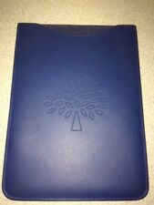 tPF:  Mulberry leather iPad mini or eBook reader case , Blossom, blue