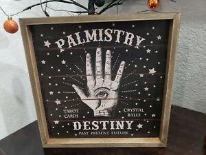 Halloween Palmistry Destiny Tabletop Prop Wall Sign Decor 11.75""