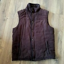 MUSTO Signature Mens Brown Gilet / Body Warmer  Size L Warm Padded Sleeveless