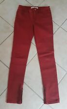 COUNTRY ROAD SZ 6 stretch skinny jeans Rust colour Zip ankles ..As new vgc