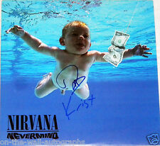 NIRVANA HAND SIGNED AUTOGRAPHED NEVERMIND ALBUM BY 2! RARE! WITH PROOF + C.O.A.!