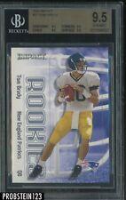 New listing 2000 Impact #27 Tom Brady New England Patriots RC Rookie BGS 9.5 GEM MINT