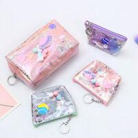 Cute Pencil Case Laser Leather Pen Box Big Makeup Bag Coin Bag For Women Gift