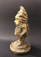 Antique Stick Holder Paliteiro Pin Holder Bronze Figure